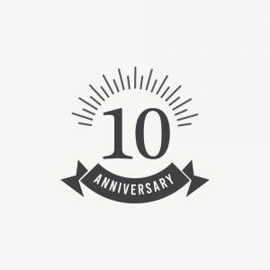 10 Years Anniversary Celebration Vector Template Design Illustration
