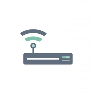 Illustration of wifi router icon